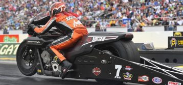 NHRA: Angelle Sampey on the Vance & Hines Harley-Davidson Ready for U.S. Nationals
