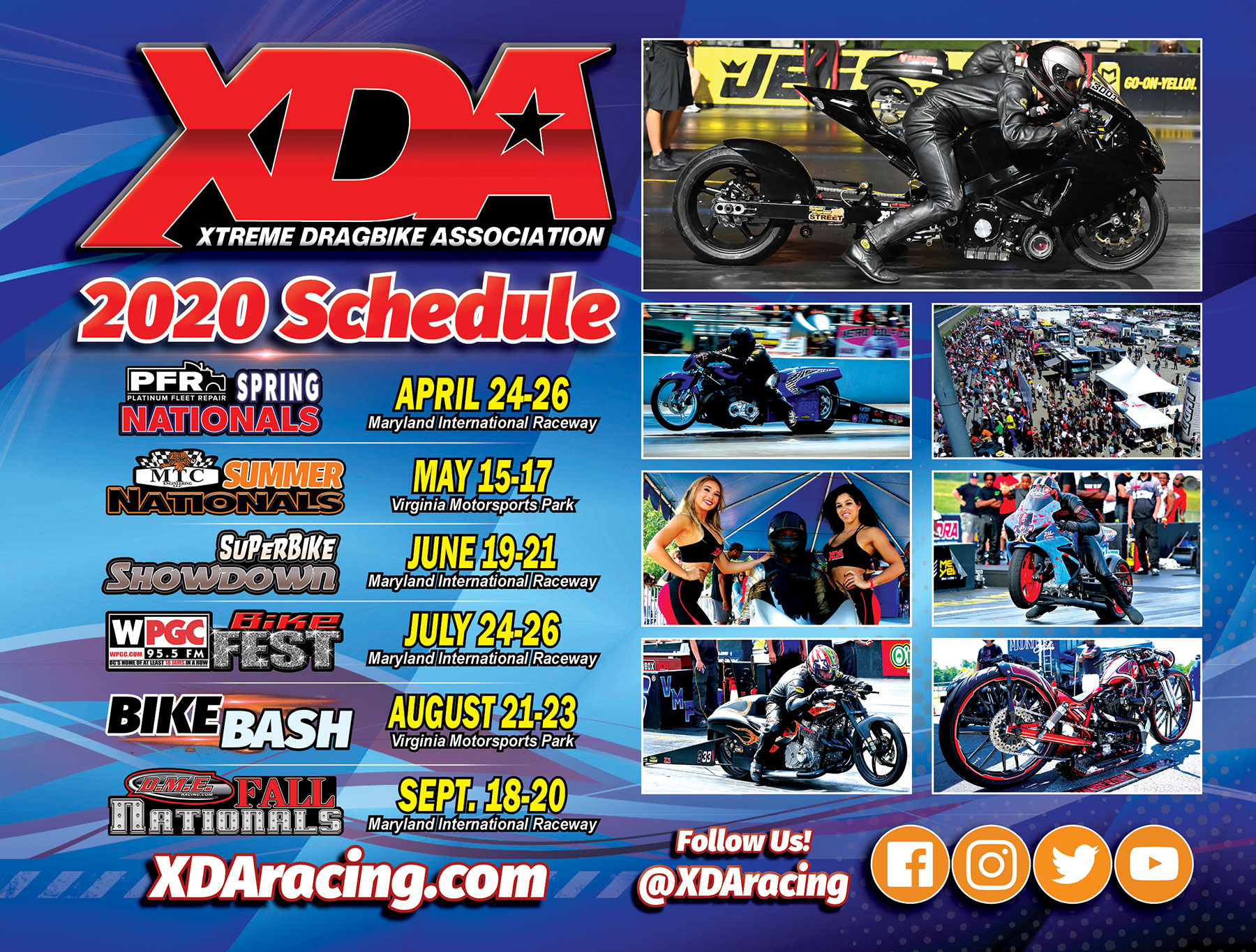Motorcycle Events September 2020.Xda 2020 Motorcycle Drag Racing Schedule Dragbike Com
