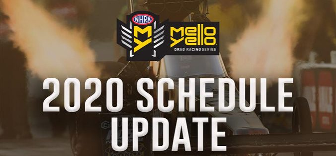 NHRA: Remaining 2020 Season Announced