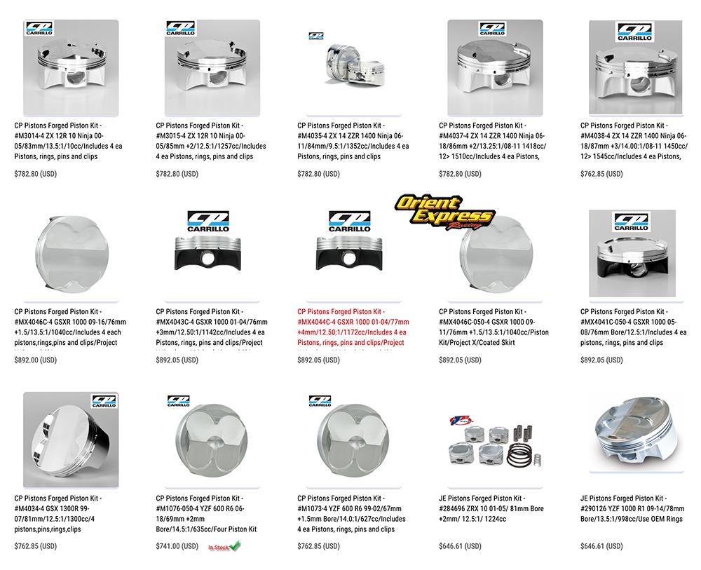 Orient Express Piston Kits on Sale