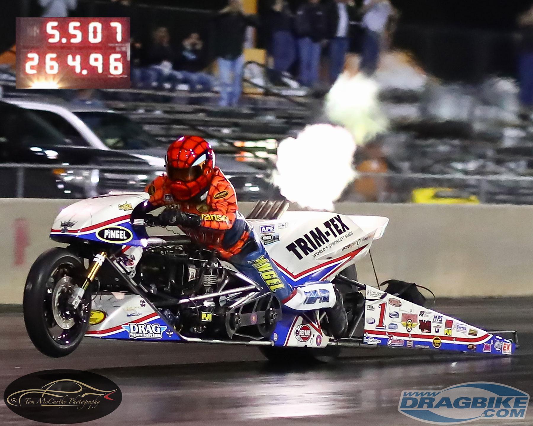 Larry spiderman McBride Top Fuel Motorcycle drag racing