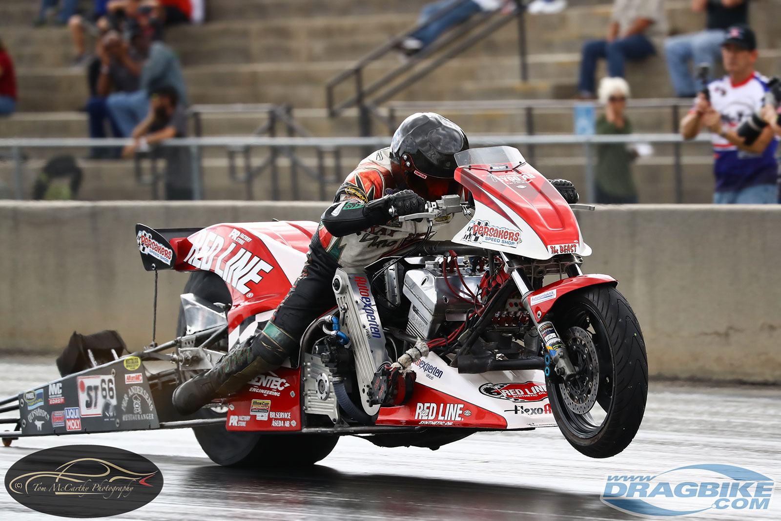 Tommy Grimes Top Fuel Twin Motorcycle Drag Racing