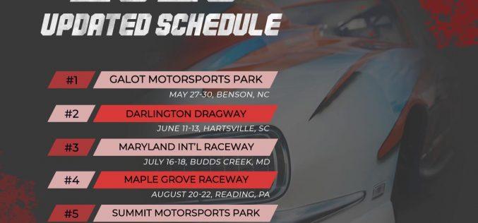 PDRA Racing – 2020 Updated Schedule