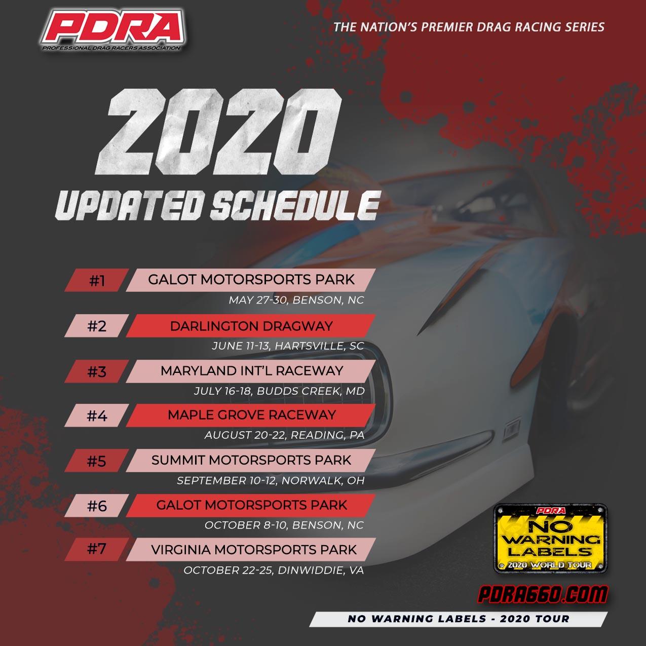 PRDA Revised Schedule