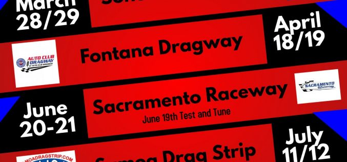 2020 Western Pro Extreme Association Drag Racing Schedule