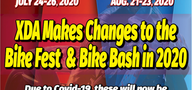 XDA Makes Changes to the Bike Fest & Bike Bash in 2020
