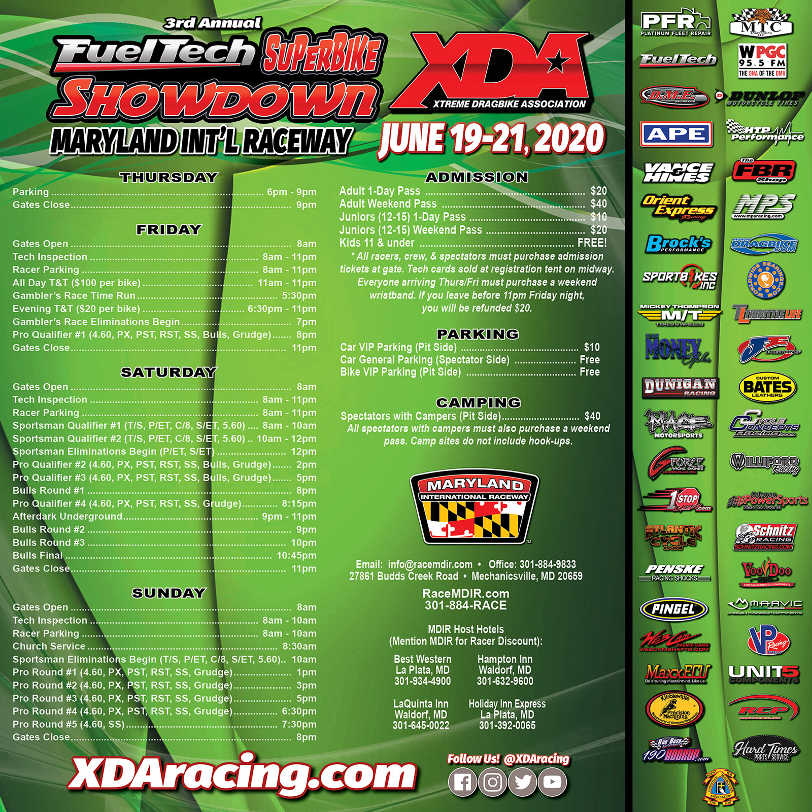 XDA FuelTech Superbike Showdown at MDIR on June 19–21