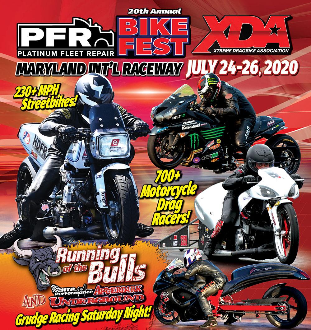 XDA PFR Bike Fest at MDIR on July 24-26, 2020