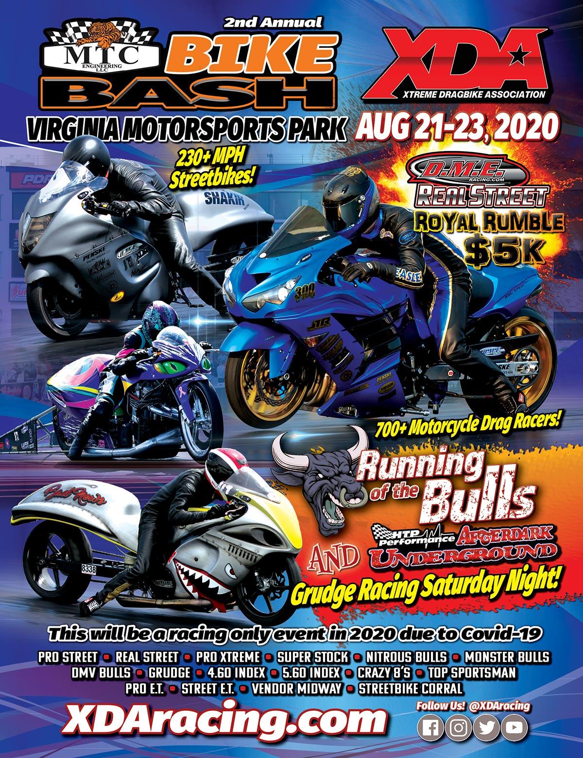 2020 XDA Bike Bash at Virginia Motorsports Park
