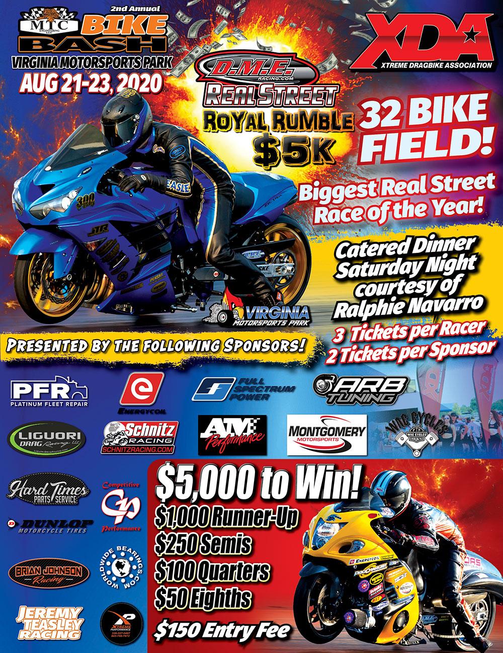 2020 XDA Real Street Royal Rumble - Motorcycle Drag Racing