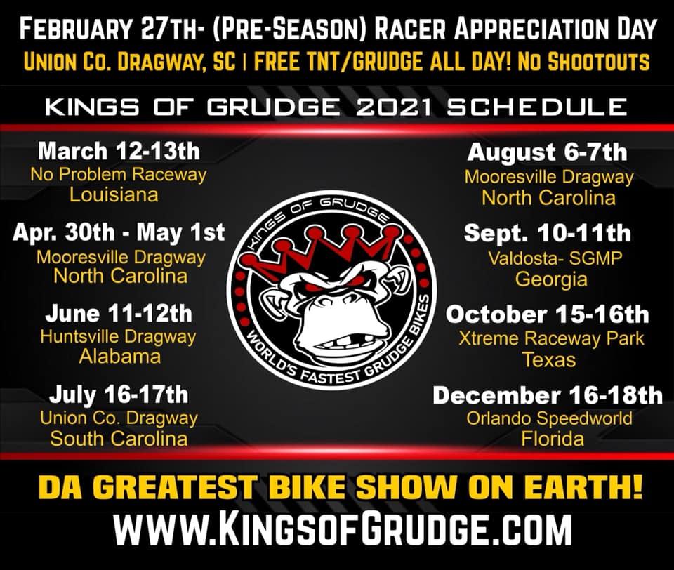 Kings of Grudge 2021 Drag Racing Schedule