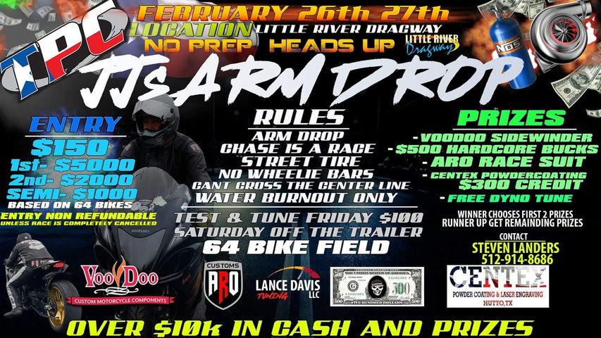 JJ's Arm Drop at Little River Dragway | February 2021