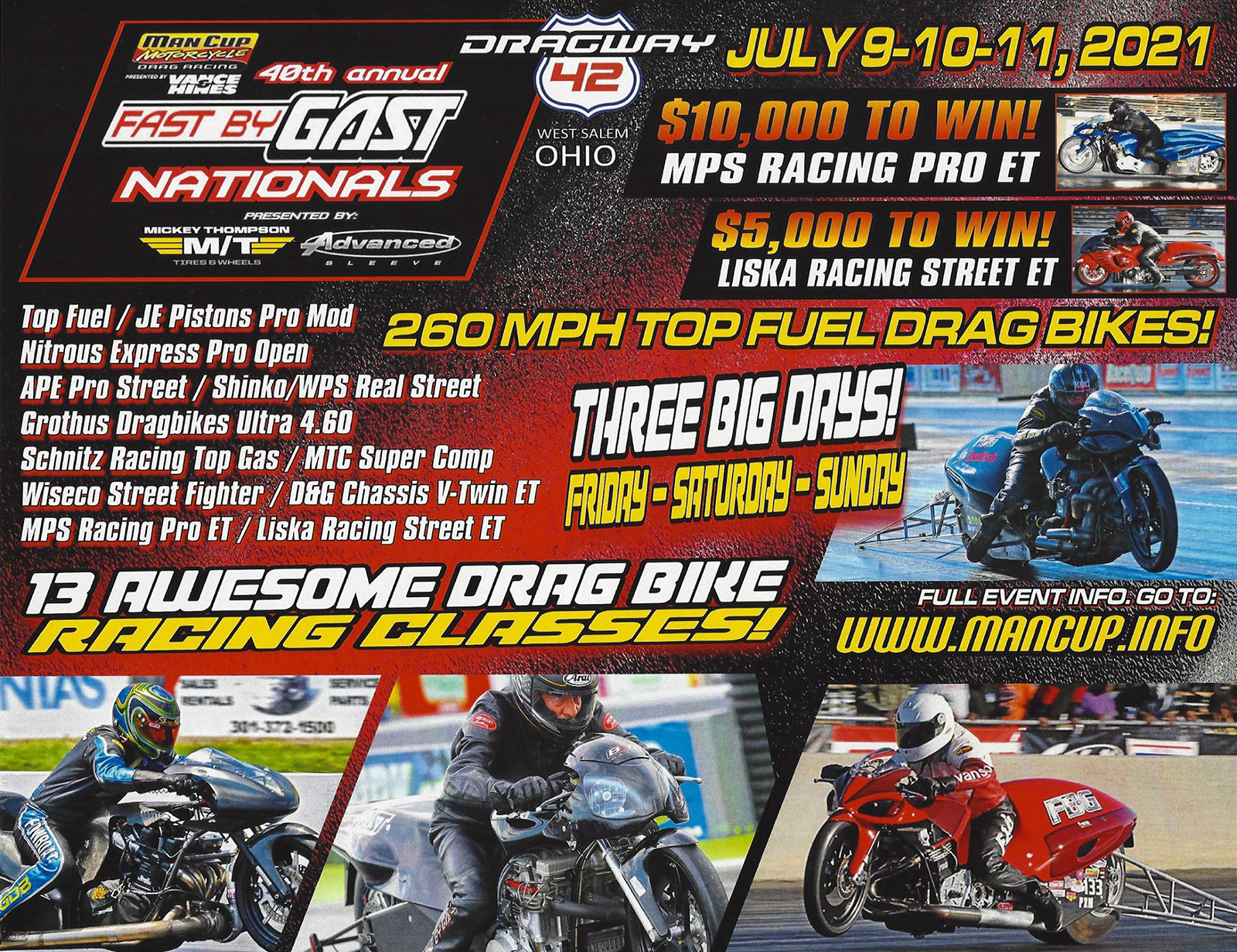 Man Cup: FBG Nationals Event Schedule