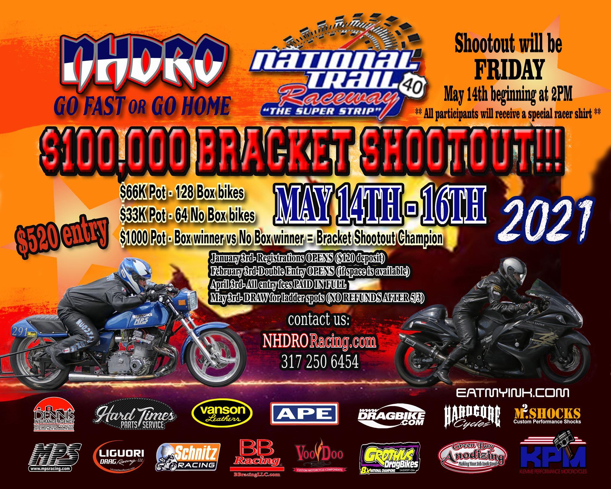 NHDRO 100K Bracket Shootout