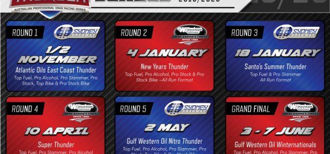 400 Thunder: 2019/2020 Drag Racing Schedule