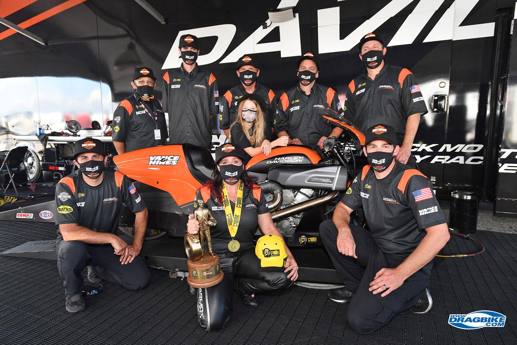 Angela Sampey and Harley-Davidson Back on Top at Indy