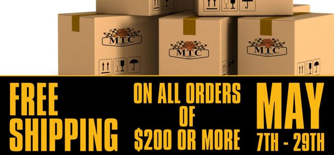MTC: FREE Shipping in May!