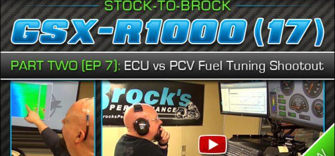 2017 Suzuki GSX-R1000   Episode 7 Part 2 – ECU Flashing / ECU vs PCV Fuel Tuning Shootout