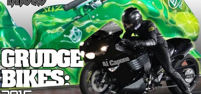 NHDRO : Al Capone Zx14 vs Budlight Lime nitrous grudge bike Race