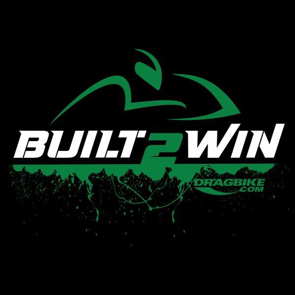 Built to win Motorcycle drag racing tshirt