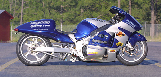 Feature : Velocity Racing's Turbo Hayabusa   Dragbike.com